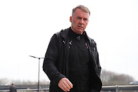 Fleetwood Town Manager John Sheridan arrives at the New York Stadium, Rotherham before the Sky Bet League 1 match between Rotherham United and Fleetwood Town at the New York Stadium, Rotherham, England on 7 April 2018. Photo by Leila Coker.