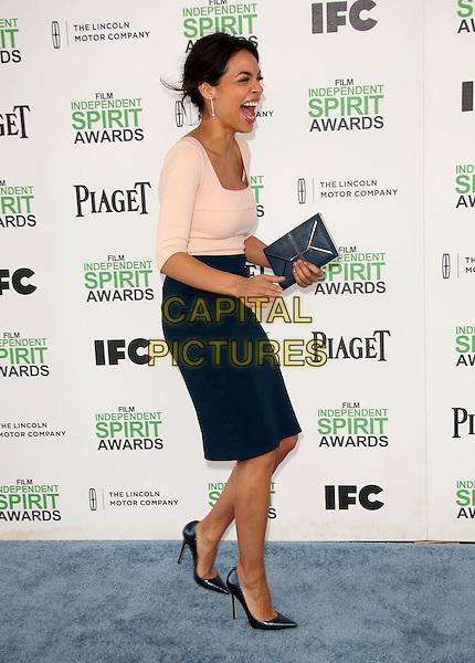 SANTA MONICA, CA - March 01: Rosario Dawson at the 2014 Film Independent Spirit Awards Arrivals, Santa Monica Beach, Santa Monica,  March 01, 2014. Credit: Janice Ogata/MediaPunch<br /> CAP/MPI/JO<br /> &copy;JO/MPI/Capital Pictures