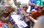 Musicians from the Strings in the Summer program perform at Sierra Place in Carson City, Nev., on Thursday, July 29, 2015.<br />