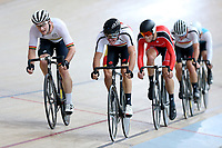 Dylan Kennett (L) of Waikato BOP and Nick Kergozou of Southland compete in the Elite Men Omnium 2 Tempo race 10km at the Age Group Track National Championships, Avantidrome, Home of Cycling, Cambridge, New Zealand, Saturday, March 18, 2017. Mandatory Credit: © Dianne Manson/CyclingNZ  **NO ARCHIVING**