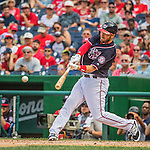 11 September 2016: Washington Nationals infielder Stephen Drew in action against the Philadelphia Phillies at Nationals Park in Washington, DC. The Nationals edged out the Phillies 3-2 to take the rubber match of their 3-game series. Mandatory Credit: Ed Wolfstein Photo *** RAW (NEF) Image File Available ***