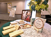 STAFF PHOTO BEN GOFF  @NWABenGoff -- 09/19/14 Literature sits on a table in the Relief Society Room in the new Bella Vista Chapel of The Church of Jesus Christ of Later-day Saints in Bella Vista during an open house on Friday September 19, 2014.