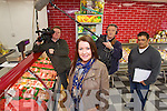 Audrey Logue from Kilflynn being filmed at Terrys Butchers in Oakpark on Monday Morning for TV3's Come Dine With Me.