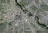 aerial photo map of Minneapolis, Minnesota