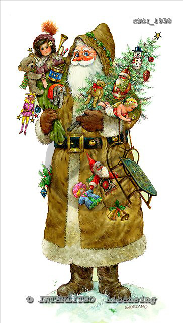 GIORDANO, CHRISTMAS SANTA, SNOWMAN, WEIHNACHTSMÄNNER, SCHNEEMÄNNER, PAPÁ NOEL, MUÑECOS DE NIEVE, nostalgic, paintings+++++,USGI1930,#X# nostalgic,vintage