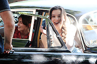 "July 09, 2012 Keira Knightley and Hailee Steinfeld shooting on location for the new VH-1 film, ""Can a Song Save Your Life ?"" in New York City. © RW/MediaPunch Inc."