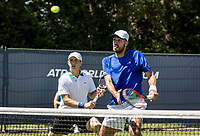 Den Bosch, Netherlands, 13 June, 2017, Tennis, Ricoh Open, Men's doubles: Tallon Griekspoor (NED) / David Pel (NED) (R)<br /> Photo: Henk Koster/tennisimages.com