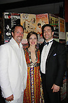 Opening Night of Manipulation and after party at Sardis - Robert Bogue poses with castmates Marina Squerciati and Jeremy Stiles Holm (both were on Guiding Light and Marina worked with Robert on June 28, 2011 at the Cherry Lane Theatre, New York City, New York. (Photo by Sue Coflin/Max Photos)