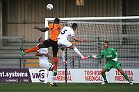 John Akinde scores Barnet's opening goal during Barnet vs Swansea City, Friendly Match Football at the Hive Stadium on 12th July 2017
