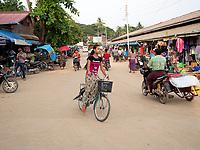 Street life in the town of Mrauk-U and surrounding areas, Rakhine State, Myanmar, Burma