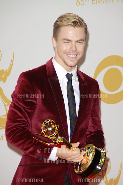 Derek Hough at the 65th Primetime Emmy Awards at the Nokia Theatre, LA Live.<br /> September 22, 2013  Los Angeles, CA<br /> Picture: Featureflash