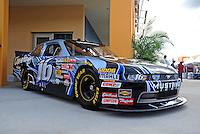 Nov. 20, 2009; Homestead, FL, USA; The new Nationwide Series car of tomorrow Ford Mustang to be driven in 2010 by Colin Braun on display at Homestead Miami Speedway. Mandatory Credit: Mark J. Rebilas-