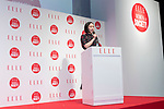 Sakiko Hirano speaks during the ELLE WOMEN in SOCIETY 2018 on June 16, 2018, Tokyo, Japan. The annual event focuses on working women's role in the Japanese society through various seminars where top businesswomen, celebrities and leaders are invited to speak. (Photo by Rodrigo Reyes Marin/AFLO)