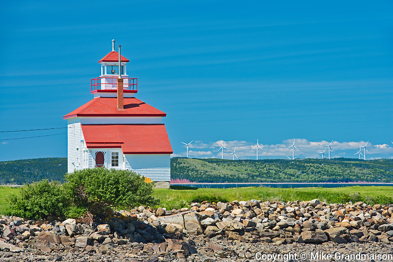 Lighthouse on St.Mary's Bay , Gilbert's Cove, Nova Scotia, Canada
