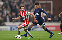 Ramadan of Stoke in action with Dele Alli of Tottenham during the EPL - Premier League match between Chelsea and West Ham United at Stamford Bridge, London, England on 8 April 2018. Photo by PRiME Media Images.