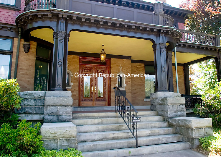 TORRINGTON, CT- 30 JUNE 2007- 063007JT03-<br /> The porch of the Hotchkiss Fyler house in Torrington..<br /> Josalee Thrift Republican-American