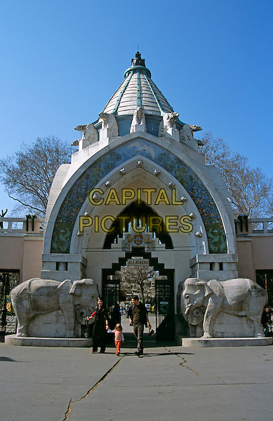 Budapest Zoo entrance, City Park (Varosliget), Budapest, Hungary