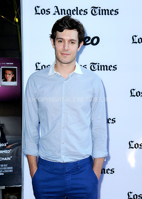 WWW.ACEPIXS.COM<br /> <br /> <br /> June 26, 2013, North Hollywood, CA.<br /> <br /> Adam Brody arriving at the Los Angeles Premiere of 'Some Girl(s)' at Laemmle NoHo7 on June 26, 2013 in North Hollywood, CA.<br /> <br /> <br /> <br /> <br /> By Line: Peter West/ACE Pictures<br /> <br /> ACE Pictures, Inc<br /> Tel: 646 769 0430<br /> Email: info@acepixs.com