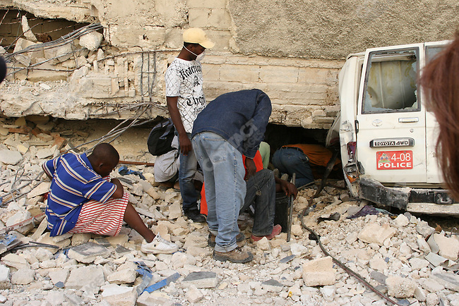 Aftermath of earthquake, Port-au-prince, Haiti, January 15, 2010