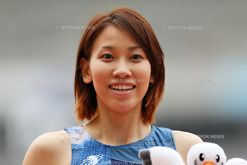 Chisato Fukushima (JPN), <br /> June 9, 2013 - Athletics : <br /> The 97th Japan Athletics National Championships, Women's 200m Final <br /> at Ajinomoto Stadium, Tokyo, Japan. <br /> (Photo by Daiju Kitamura/AFLO SPORT)