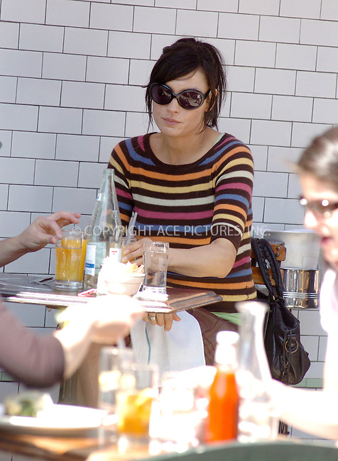 WWW.ACEPIXS.COM ** ** **EXCLUSIVE!!! FEE MUST BE NEGOTIATED BEFORE USE!!!***....NEW YORK, APRIL 17, 2005....Famke Janssen takes a beautiful Sunday to lunch at Pastis.....Please byline: Philip Vaughan -- ACE PICTURES... *** ***  ..Ace Pictures, Inc:  ..Craig Ashby (212) 243-8787..e-mail: picturedesk@acepixs.com..web: http://www.acepixs.com