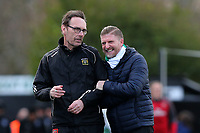 Yeovil manager Jamie Sherwood (R) during Arsenal Women vs Yeovil Town Ladies, FA Women's Super League FA WSL1 Football at Meadow Park on 11th February 2018