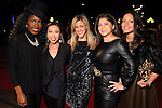 From left: Dee Brown, Lily Jang, Courtney Zabowski, Marcy de Luna and Rekha Muddaraj on the red carpet at Fashion Houston at the Wortham Theater Wednesday Nov.13,2013.  (Dave Rossman photo)