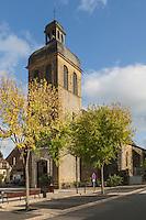 France, Aquitaine, Pyrénées-Atlantiques, Béarn, Navarrenx: l'église //  France, Pyrenees Atlantiques, Bearn, Navarrenx, the church