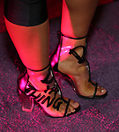 Treshelle Edmond, shoe detail, attends the Broadway Opening Night After Party for 'Children of a Lesser God' at Edison Ballroom on April 11, 2018 in New York City.
