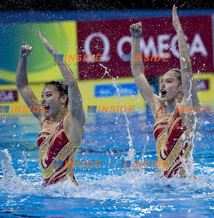 Shanghai ,  (CHN) 16-31 July 2001.XIV FINA Swimming World Championships.day 03.Duet Tech.Final .China.Photo G.Scala/Insidefoto