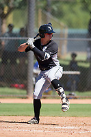 Jacob Cooper (10) of the Chicago White Sox at bat during an Instructional League game against the Los Angeles Dodgers on September 30, 2017 at Camelback Ranch in Glendale, Arizona. (Zachary Lucy/Four Seam Images)
