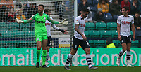 Preston North End players react to conceding the opening goal<br /> <br /> Photographer Alex Dodd/CameraSport<br /> <br /> The EFL Sky Bet Championship - Preston North End v Bristol City - Saturday 28th September 2019 - Deepdale Stadium - Preston<br /> <br /> World Copyright © 2019 CameraSport. All rights reserved. 43 Linden Ave. Countesthorpe. Leicester. England. LE8 5PG - Tel: +44 (0) 116 277 4147 - admin@camerasport.com - www.camerasport.com