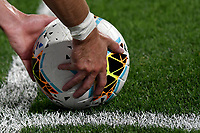 A player puts the ball in the corner angle during the Serie A football match between Juventus FC and US Lecce at Juventus stadium in Turin  ( Italy ), June 26th, 2020. Play resumes behind closed doors following the outbreak of the coronavirus disease. Photo Andrea Staccioli / Insidefoto