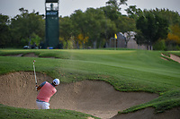 Kyoung-Hoon Lee (KOR) hits from the trap on 12 during day 2 of the Valero Texas Open, at the TPC San Antonio Oaks Course, San Antonio, Texas, USA. 4/5/2019.<br /> Picture: Golffile | Ken Murray<br /> <br /> <br /> All photo usage must carry mandatory copyright credit (&copy; Golffile | Ken Murray)