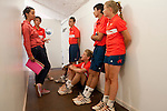 Roland Garros. Paris, France. June 1st 2012.A day with the ball boys..Debrief with coach after a session on the court