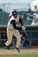 Sergio Santos of the Lancaster JetHawks bats during a game at The Hanger on April 6, 2003 in Lancaster, California. (Larry Goren/Four Seam Images)