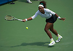 Serena Williams (USA) wins at the Western and Southern Financial Group Masters Series in Cincinnati on August 16, 2012