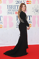Ella Henderson arriving at The Brit Awards 2015 (Brits) held at the O2 - Arrivals, London. 25/02/2015 Picture by: James Smith / Featureflash