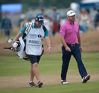 20.07.2014. Hoylake, England. The Open Golf Championship, Final Round.  Graeme MCDOWELL  [NIR] walks to his tee shot
