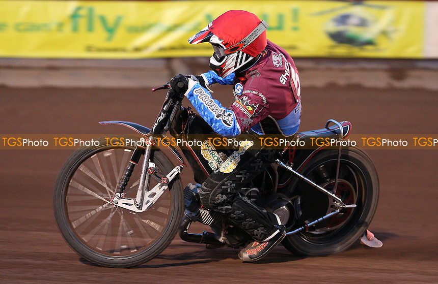 Adam Shields of Lakeside Hammers - Lakeside Hammers vs Ipswich Witches, Elite League Speedway at the Arena Essex Raceway, Purfleet - 07/05/10 - MANDATORY CREDIT: Rob Newell/TGSPHOTO - Self billing applies where appropriate - 0845 094 6026 - contact@tgsphoto.co.uk - NO UNPAID USE.