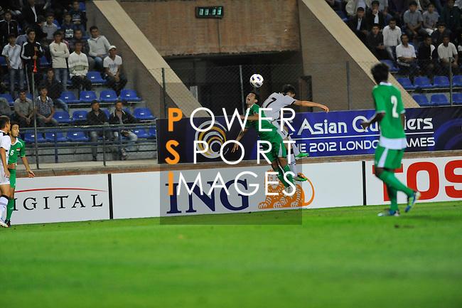 Uzbekistan vs Iraq during the Olympic Qualifying 2012 Group B stage match on September 21, 2011 at the JAR Stadium in Tashkent, Uzbekistan. Photo by World Sport Group