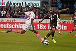 08.02.2019, RheinEnergieStadion, Koeln, GER, 2. FBL, 1.FC Koeln vs. FC St. Pauli,<br />  <br /> DFL regulations prohibit any use of photographs as image sequences and/or quasi-video<br /> <br /> im Bild / picture shows: <br /> Jhon Córdoba (FC Koeln #15),   im Zweikampf gegen  Christopher Avevor (St Pauli #6), <br /> <br /> Foto © nordphoto / Meuter