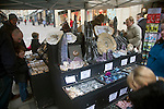 Street stall selling rocks, fossils and crystals, Union Street, Bath, England