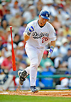 12 March 2008: Los Angeles Dodgers' catcher Gary Bennett in action during a Spring Training game against the Washington Nationals at Holman Stadium, in Vero Beach, Florida. The Nationals defeated the Dodgers 10-4 at the historic Dodgertown ballpark. 2008 marks the final season of Spring Training at Dodgertown for the Dodgers, as the team will move to new training facilities in Arizona starting in 2009 after 60 years in Florida...Mandatory Photo Credit: Ed Wolfstein Photo