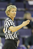 SEATTLE, WA - DECEMBER 18: NCAA official Karen Lasuik was on hand for the game between Washington and Savannah State.  Washington won 87-36 over Savannah State at Alaska Airlines Arena in Seattle, WA.