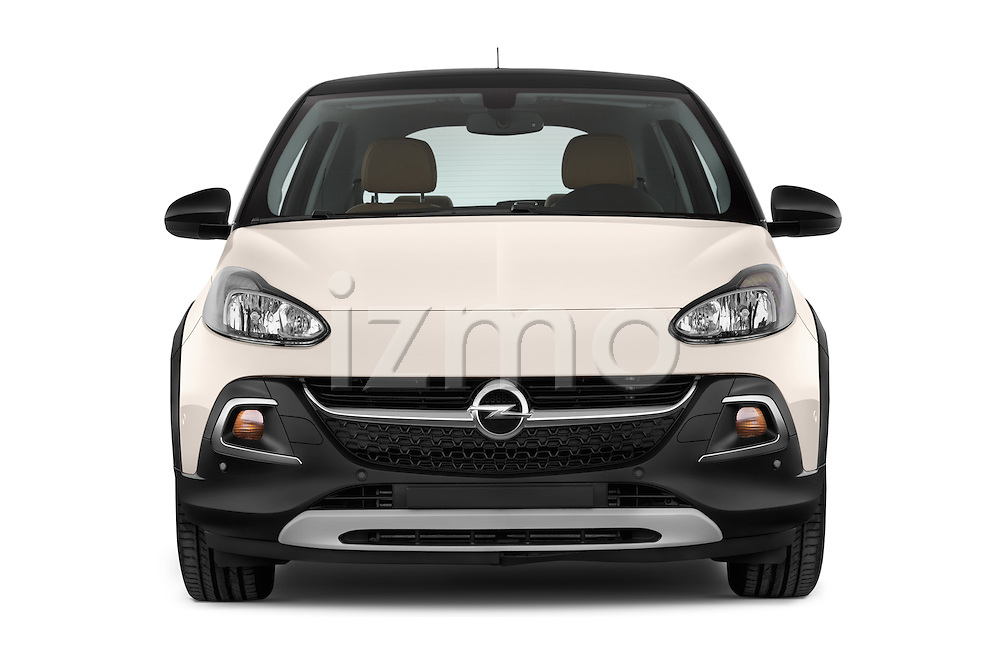 Car photography straight front view of a 2015 Opel Adam Rocks 3 Door Hatchback