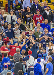 1 April 2016: Baseball fans try to catch a foul ball during a pre-season exhibition series between the Toronto Blue Jays and the Boston Red Sox at Olympic Stadium in Montreal, Quebec, Canada. The Red Sox defeated the Blue Jays 4-2 in the first of two MLB weekend games at the former home on the Montreal Expos. Mandatory Credit: Ed Wolfstein Photo *** RAW (NEF) Image File Available ***