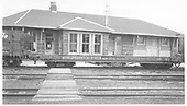 Antonito depot with baggage room addition and other improvements.<br /> D&amp;RGW  Antonito, CO  5/1963