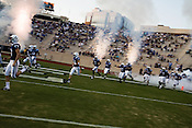 September 6, 2008. Durham, NC..  College football in the Triangle..Duke University lost a home game 20- 24 to Northwestern..Duke takes the field.