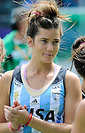 The Hague, Netherlands, June 14: Agustina Albertarrio #19 of Argentina looks on after the field hockey bronze medal match (Women) between USA and Argentina on June 14, 2014 during the World Cup 2014 at Kyocera Stadium in The Hague, Netherlands. Final score 2-1 (2-1)  (Photo by Dirk Markgraf / www.265-images.com) *** Local caption ***
